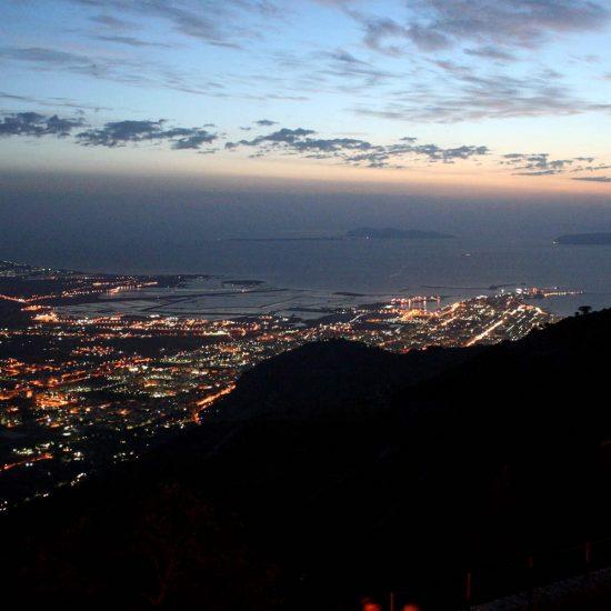 Panoramica sul golfo di Trapani da Erice