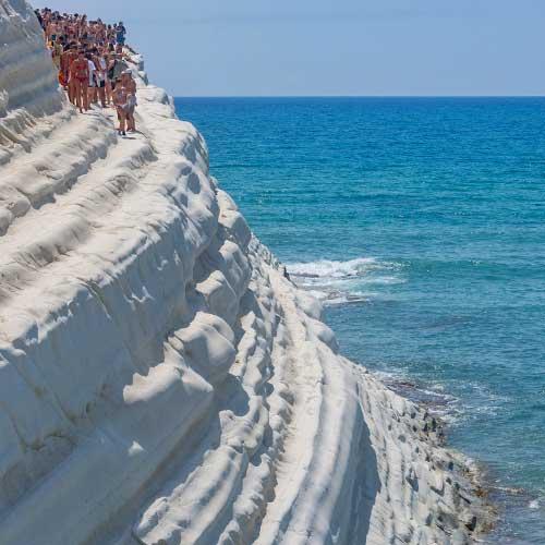 Scala dei Turchi, Viaggio in Sicilia