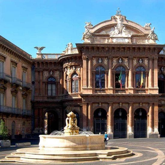 Il teatro Vincenzo Bellini a Catania