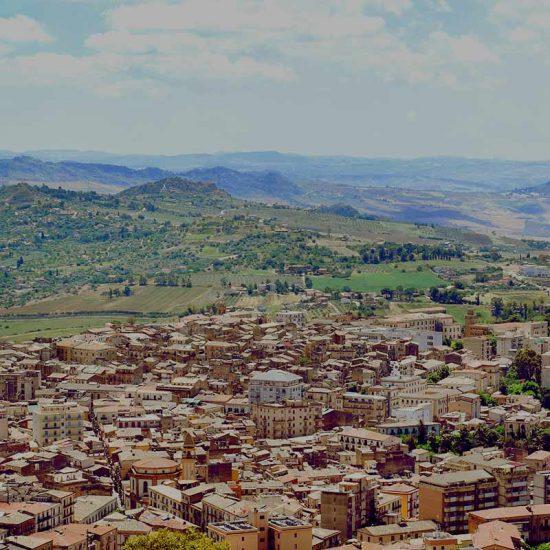 Panoramica su Caltanissetta